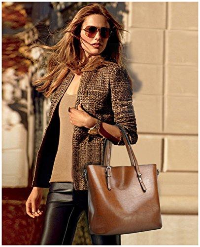 Tibes Moda spalla sacchetto impermeabile borsetta di pelle sintetica Deep Wine Red