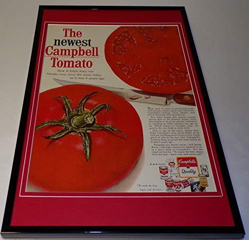 1958 Campbell's Tomato Soup Framed 11x17 ORIGINAL Vintage Advertising Poster