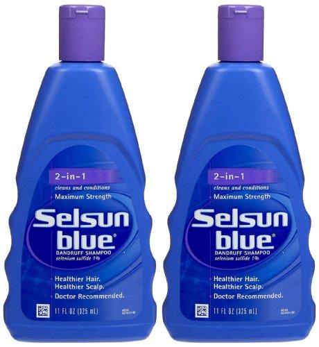 Selsun bleu 2-en-1 Traitement Shampooing, 11 oz, 2 pk