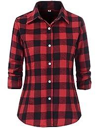 Women's Check Flannel Plaid Shirt