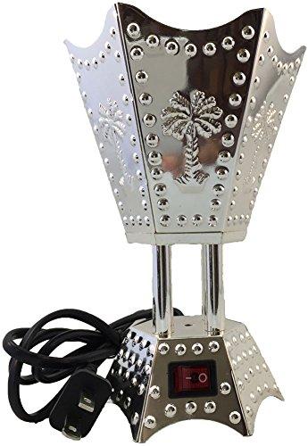 Electric Incense Bakhoor Burner Silver, 110V by Attar Mist (Burner Silver Incense)