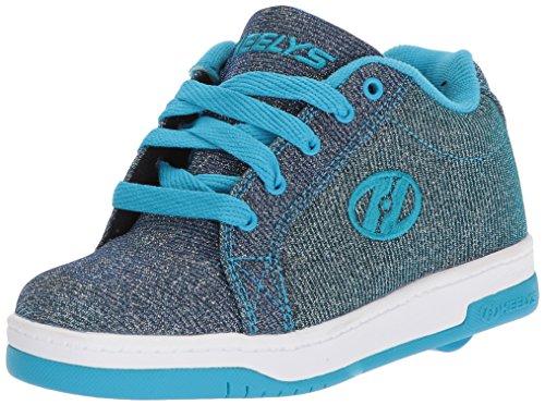 Heelys Pewter Kids Blue Running Shift Shoes Split Colour AAnHr