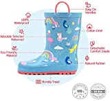 Outee Toddler Girls Kids Rain Boots Rubber Pink
