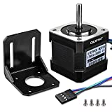 Quimat Nema 17 Stepper Motor Bipolar 2A 64oz.in(45Ncm) 38mm Body 4-lead w/ 1m Cable & Connector and Mounting Bracket Kit for 3D Printer Hobby CNC