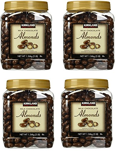 (Kirkland Signature Milk Chocolate Roasted Almonds 3 LBS (48 Oz) JAR, BmyyBx 4)