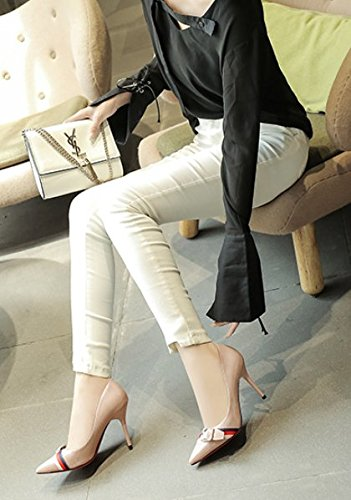 Shoes Shallow Buckle 37 Gray Bridesmaid Head Spring Heel 9Cm Leisure Single Heels Elegant Square Shoes Lady Work Mouth Thin Sharp MDRW wF6SHH