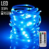 33ft 100LEDs Fairy String Lights with Remote Control, Weatherproof Copper Wire, Battery Powered