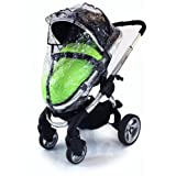 Baby Travel Raincover to Fit Icandy Peach Carrycot for Newborn (Transparent) i Candy Carrycot & Stroller Mode Zipped + Window by Baby Travel