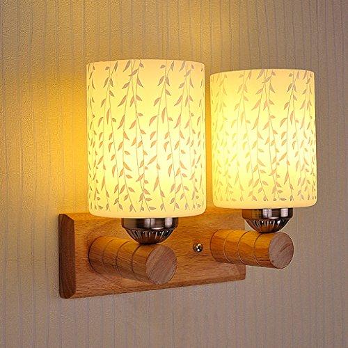 Einfache Farbe Schlafzimmer LED Wand Wandmontiert D Holz Wandleuchte C  Moderne Lampe Nachttischlampe Wandlampe Gang Wandleuchte ...
