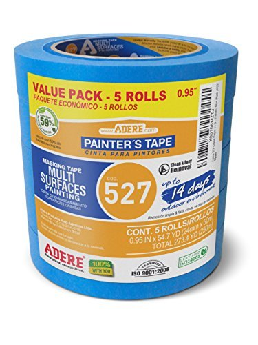 Adere 527 Crepe Paper 14 Day Easy Release Painters Masking Tape, 54.7 Yds Length X 0.95