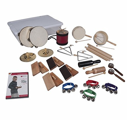 Deluxe Double Electric Bass - 25-Player/43-Piece Deluxe Musical Rhythm Kit (Age 3+)