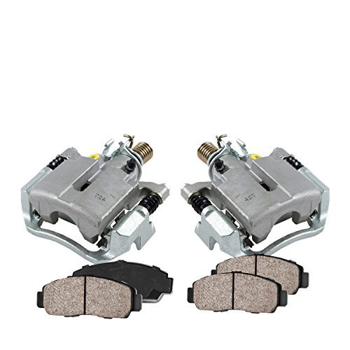 COEK00543 [2] REAR Premium Loaded OE Caliper Assembly Set + Quiet Low Dust Ceramic Brake Pads