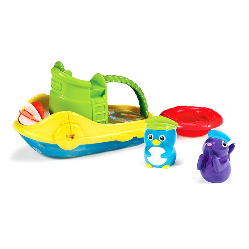 Munchkin Tug Along Boat, Multicolor, 1-Count 15601