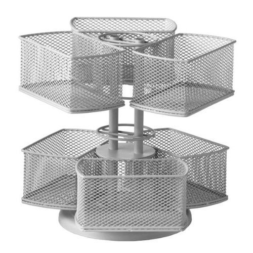 Nifty Cosmetic Organizing Carousel, Silver (Carousel Storage Container compare prices)