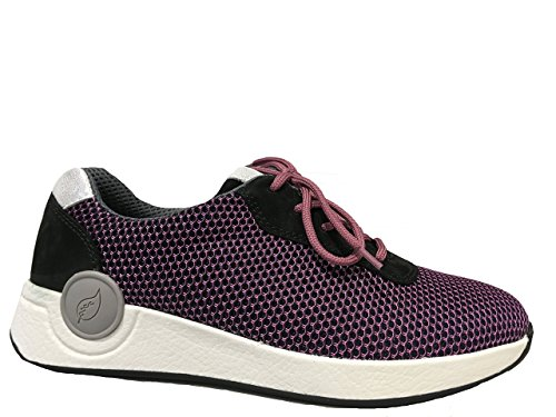Waldlaufer up 5 amp; Black Size 5 Lace Trainer Purple AwArq6B
