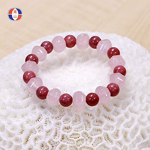(South African trade genuine natural rose quartz bracelet QUARTZ merwinite jelly powder mixed wear bracelets S272)