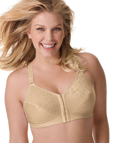 Playtex 18 Hour Posture and Back Support Wire-free Bra, 48C, Nude