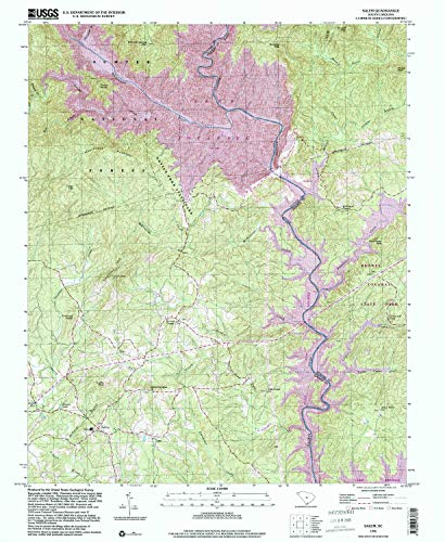 YellowMaps Salem SC topo map, 1:24000 Scale, 7.5 X 7.5 Minute, Historical, 1996, Updated 2000, 26.8 x 22 in - Paper ()