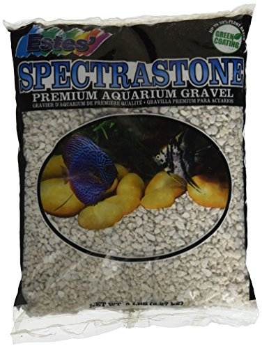 Spectrastone Special White Aquarium Gravel for Freshwater Aquariums, 5-Pound Bag