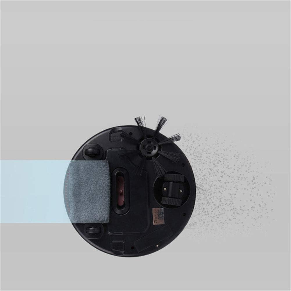 ZHANG Aspirateur Robot, Robot de Nettoyage avec Anti-Drop et Collision Senso, Maison Machines à usages Multiples pour Cleaner Hard Floor, Pet Hair,Rose Black