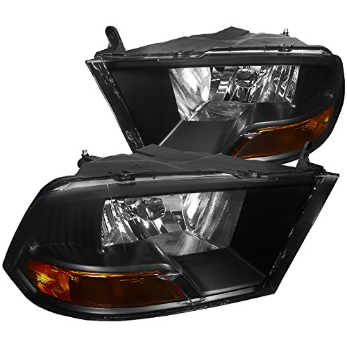 Spec-D Tuning 2LH-DGP09JM-RS Dodge Ram 1500 2500 3500 Crystal Euro Black Headlights ()
