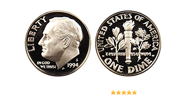 Same Day Shipping! 1994-S Roosevelt Dime Proof DCAM