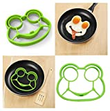 Kemilove Silicone Owl Shaped Fried Eggs Fried Eggs Shaper Breakfast Kitchen Cooking Tool (Frog)