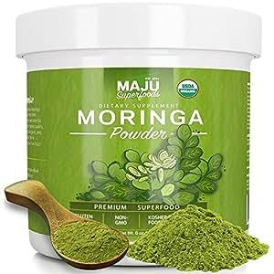 Amazon.com: MAJU's Organic Moringa Powder: NON-GMO