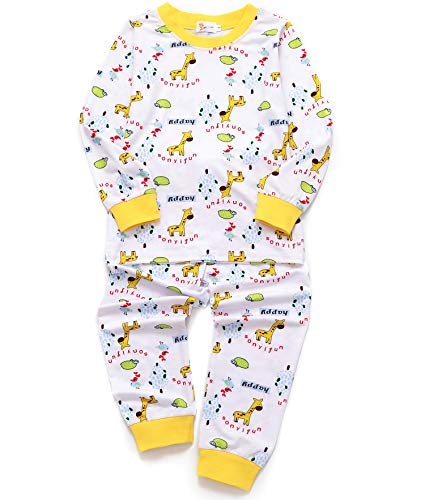 DHASIUE Christmas Kids & Toddler Pajamas Girls 2 Piece Pjs Set Cotton Sleepwear 2-7 ()