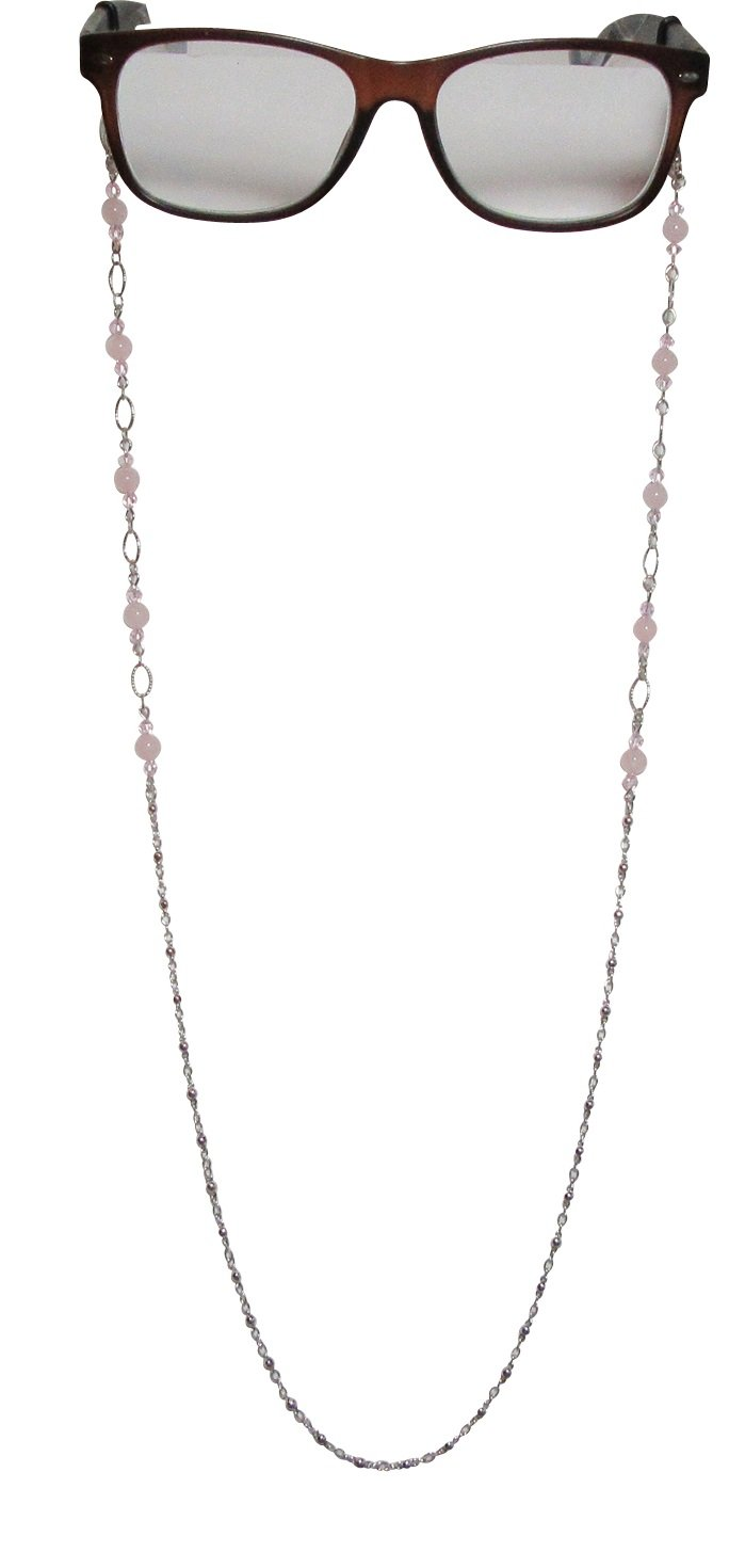 LaRaso & Co Pink Rose Quartz Crystal Eyeglass Chain Strap Holder for Women by LaRaso & Co (Image #2)