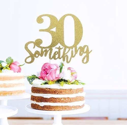 Amazon.com: 30 Something Cake Topper, Birthday Cake Topper