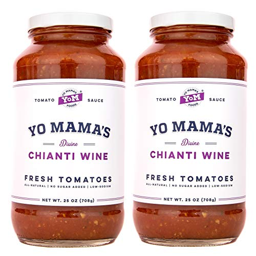 Chicken Pasta Tomatoes - Gourmet Chianti Wine Pasta Sauce - (2) 25 oz Jars - Keto Certified, No Sugar Added, Gluten Free, Preservative Free, Paleo Friendly, and Made with Whole, Non-GMO Tomatoes!