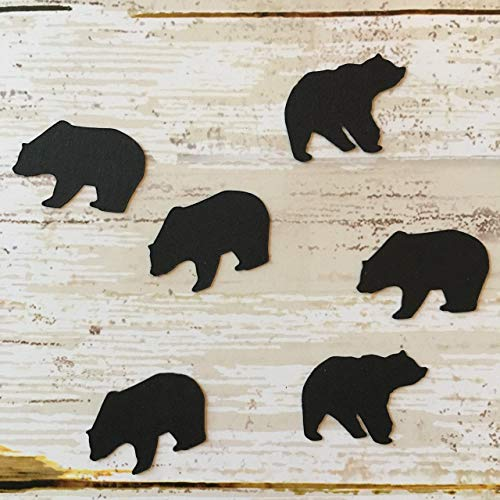 Bear Confetti, Polar Bear, Bear Decorations, Rustic Party Supplies, Animal Theme, Woodland Theme, Bear Cut - Confetti Bear