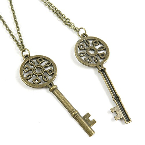 [1 Pieces Antique Bronze Fashion Jewelry Making Charms Necklace Costume Sweater Long Chain Pendant 4-XLA2879 Magic Skeleton] (Costumes Jewelry Supplies)