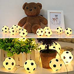 10LEDs 2.13m World Cup Soccer Football LED String Light - Warm White