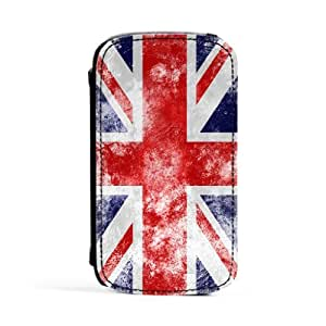 White Grunge Flag - UK Flag - Union Jack - United Kingdom Flag - Flag of Great Britain Premium Faux PU Leather Case, Protective Hard Cover Flip Case for Samsung? Galaxy S3 by UltraFlags + FREE Crystal Clear Screen Protector