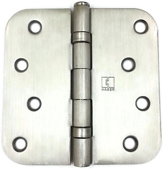Color : Silver, Size : 4 inch Teerwere Hinges 4 Pcs Home Door Hinges Rotatable Ball Bearing Hinges Stainless Steel Mute Door Hinges Door Hinges