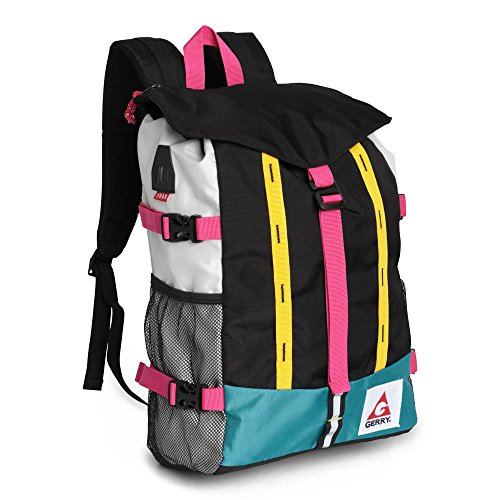 City Adventure Casual Oxford - Gerry Outdoor - Hinsdale Colorblock Flapover Top Backpack, Black