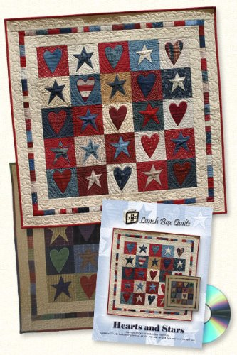 - Hearts and Stars Applique Machine Embroidery Design Pattern with CD by Lunch Box Quilts