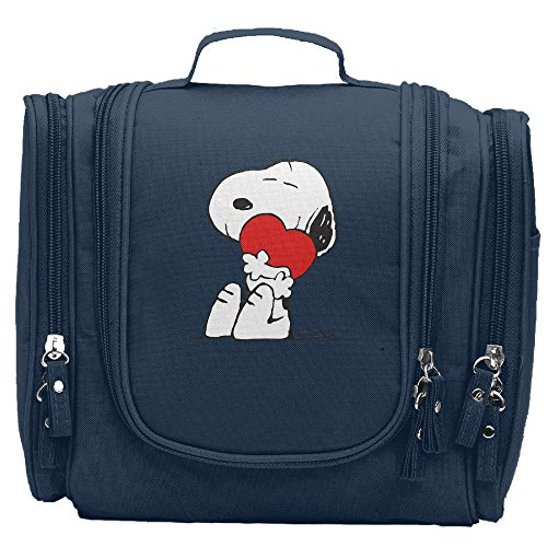 Travel Toiletry Bags Love Music Heart Noopy Washable Bathroom Storage Hanging Cosmetic/Grooming Bag For Household Business Vacation, Multi Compartments, Waterproof Lining by JGIG JGOEG VC (Image #5)