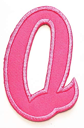 PP Patch Pink Alphabet Letter Q School Symbol Logo for sale  Delivered anywhere in USA