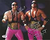 #9: Bret Hart Jim Neidhart Signed WWE 8x10 Photo COA Foundation Picture Auto - PSA/DNA Certified - Autographed Wrestling Photos
