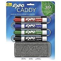 EXPO 1785294 Juego de borrado en seco de bajo olor, punta de cincel, colores surtidos, 5 piezas con marcador de material reciclado