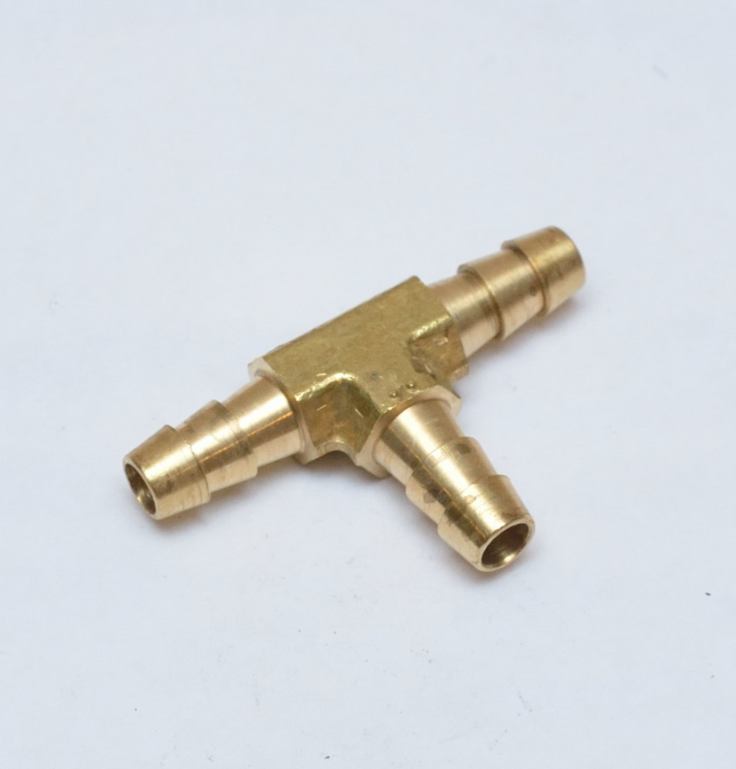 Barbed T  Tee 3 way  Hose Pipe joiner connector Air Water Gas Oil Pipe Tube Bov