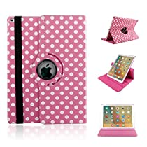 Apple iPad 2/3/4 Case,WONFAST 360 Degree Rotating Stand Leather Smart Case Cover for iPad 2 iPad 3 iPad 4 with Smart On/Off (Black)
