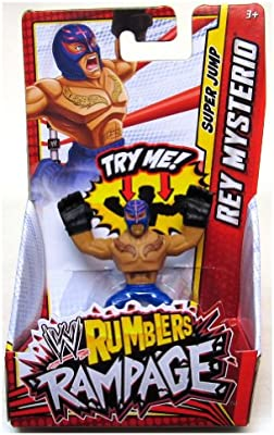 Amazon Com Rey Mysterio Blue Punch Wwe Rumblers Rampage