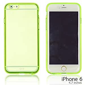 OnlineBestDigital - Colorful Gel Outlet with Hard Back Case for Apple iPhone 6 (4.7 inch)Smartphone - Green