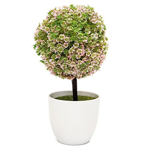 Artificial Ball Tree Plants Pot Wedding Garden Home Outdoor Indoor Decoration Purple Red - 8