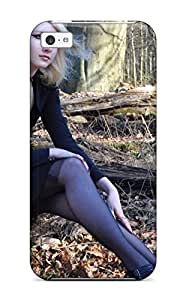 Hot HnsWURe7289LNver Case Cover Protector For Iphone 5c- Gothic Maria Blonde Goth Black Chick Forest People Women