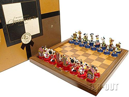 ディズニー ミッキーマウス SPIRIT OF 76 チェスセット アメリカ建国200周年 独立記念 1976年 Fab5 ミッキー ミニー ドナルド グーフィー プルート
